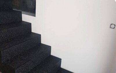 Escalier en béton antidérapant